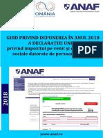 Ghid privind depunerea în anul 2018 a Declaraţiei Unice
