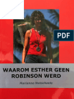 Voorwoord Waarom Esther Geen Robinson Werd