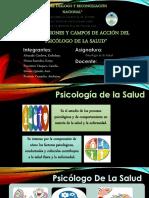 Roles, Funciones y Campos de Acción Del Psicólogo de La Salud