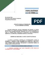 FJR Cerere Catre Presedintele Romaniei Sesizare Curtea Constitutionala Codul Penal
