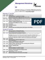 IWMW 2018 Timetable