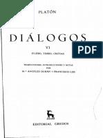 Diálogos Platón Timeo