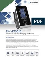 VF 700 - Equipo Biométrico