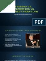 curriculum presentation