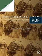 Posthuman Life david Roden