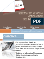INFORMATION LIFECYCLE MANAGEMENT FOR BUSINESS DATA