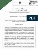 DECRETO 124 DEL 26 DE ENERO DE 2016 ANTICORRUPCIÓN