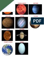 Sol Mercurio Venus Tierra Marte Jupiter Saturno