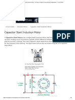 Capacitor Start Induction Motor - Its Phasor Diagram Characteristic & Applications - Circuit Globe