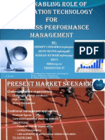 The Enabling Role of Information Technology for Business Performance Management. By-Florian Melchert & Robert Winter 1