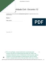 Responsabilidade Civil - Encontro 12