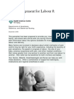 Pain Management for Labour and Delivery