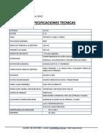 Ficha Tecnica Trafo 15kva