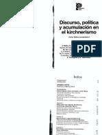 Discurso, política y acumulación en el kirchnerismo