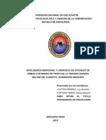 INTELIGENCIA EMOCIONAL Y LIDERAZGO EN OFICIALES DE ARMAS CON MANDO DE TROPA DE LA TERCERA DIVISIÓN MILITAR DEL EJÉRCITO, GUARNICIÓN AREQUIPA