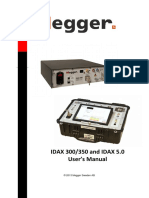 Megger - IDAX 300,350 User's Manual