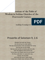 Representations of the Table of Wisdom
