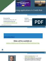 Machine Learning Applications in Credit Risk - KrishnaMurthy Quantuniv