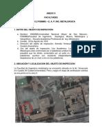 ANÁLISIS DE RIESGO Y AFORO Ing Metalurgica