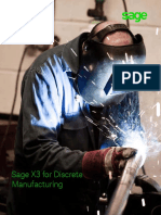 Sage X3 Discrete Manufacturing
