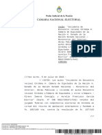 Fallo Cámara Nacional Electoral sobre composición Cámara de Diputados