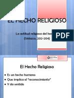 1. El Hecho Religioso
