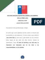 Discurso Ministra Cecilia Pérez