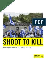 Amnistía Internacional.  Nicaragua report. 29052018