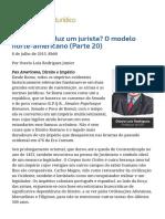 ConJur - Como Se Produz Um Jurista_ O Modelo Norte-Americano (Parte 20)