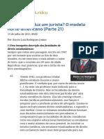 ConJur - Como Se Produz Um Jurista_ O Modelo Norte-Americano (Parte 21)