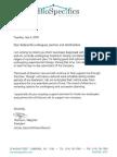 Letter from BioSpecifics President Thomas Wegman