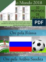 Copa Do Mundo 2018 - 32 motivos de oração