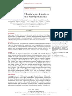 Phase 3 Trial of Ibrutinib plus Rituximab in Waldenström\'s ...