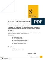 """""""ANALIZAR Y COMPARAR LA RESISTENCIA DEL CONCRETO, UTILIZANDO JUGO DE SAUCO EN UN 3% Y 5% MEDIANTE EL METODO DE ACI-211""""."""