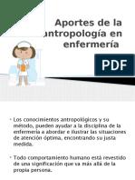 Aportes de La Antropología en Enfermería