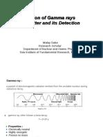 Gamma Ray Interaction
