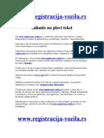 registracija vozila opis