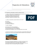 Evaluación de Diagnóstico Ciencias Naturales 3ro