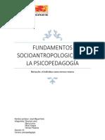 Fundamentos Socioantropologicos de La Psicopedagogía 1