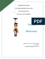 Trabajo Singular Técnica de Marioneta