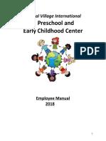 Current 2018 Global Village International Employee Handbook