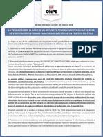 ONPE reitera no haber beneficiado a Podemos Perú y asegura transparencia