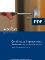Accenture Continuous Improvement the Key to Excellence