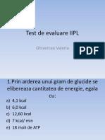 Test de Evaluare Iipl