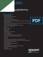 Especificaciones Técnicas - EV5016TURBO