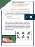 Importancia de Detección Del Dengue Por Exámenes de Laboratorio Clínico