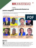 [Semanario] Mitad Diputados Restauracion Nacional Pastores Evangelicos