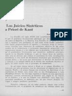Los Juicios Sinteticos a Priori Kant