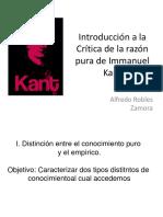 Introducción Crítica Kant Cuadro de Sintesis Teoria Del Conocimiento