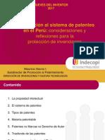 09.02.17 Introducción básica al sistema de patentes en el Perú consideraciones y reflexiones para la protección de invenciones.ppt